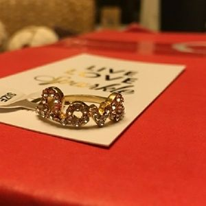 💎💎18k Gold Pave Love Ring size 7